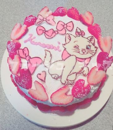 稲垣来泉母親ケーキ